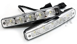 DRL 5x LED 9-32V Daytime Running Lights - 900lm 6000K White