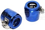 Hex Finisher for Braided Hose - Blue AN-8 (17.5mm ID)