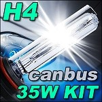 H4 Single Beam 35W Philips PL Slimline CANBUS HID Kit