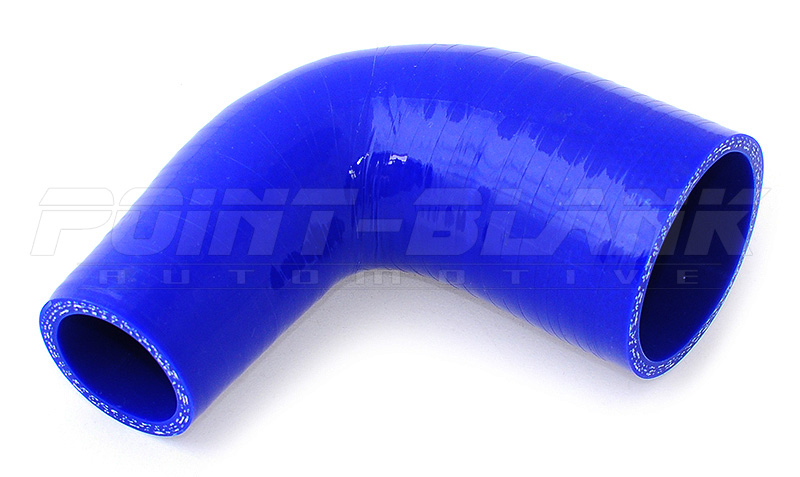 2.25 inches To 2.5 inches 90 Degree Elbow Turbo//Intercooler//Intake Piping Coupler Reducer Silicone Hose Blue