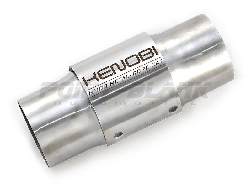 "2x Kenobi 3/"" Inch Metal Cat High Flow Metal Core 200 Cell Catalytic Converter"