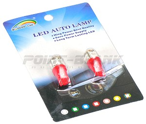T10 LED Parker Bulbs - Red