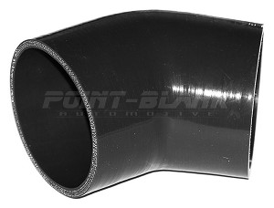 4 Inch ID (102mm) 45 Degree Elbow - Black
