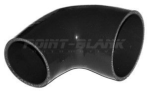 3.5 to 2.75 Inch ID (89-70mm) 90 Degree Elbow Reducer - Black